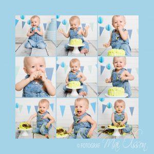 Barnets 1. fødseldag i studiet